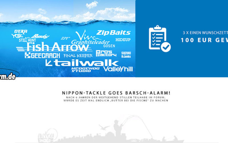 Barsch-Alarm 2.0 – Jetzt auch mit Nippon-Tackle!