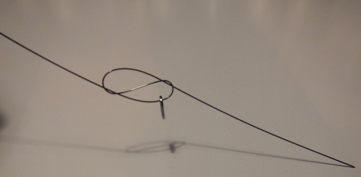 Ein einfacher Achterknoten hält absolut zuverlässig.
