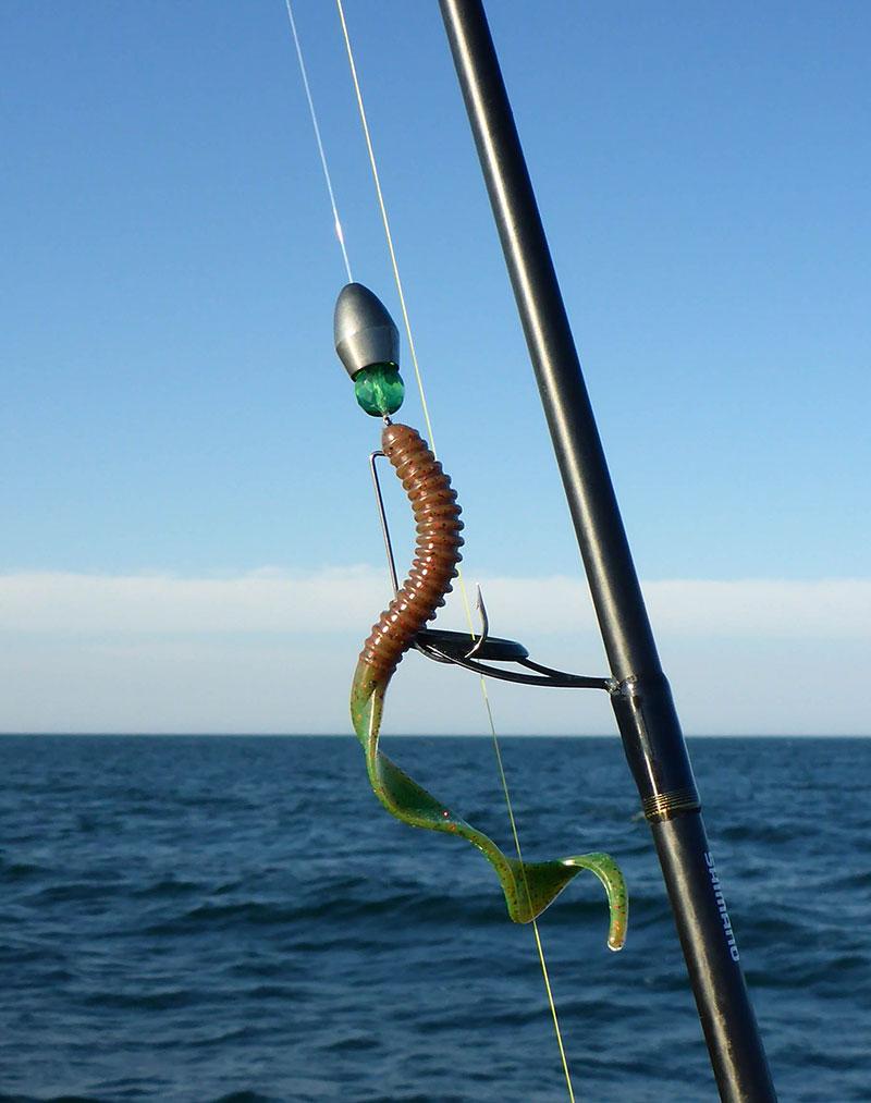 Wenn das nicht überzeugt... Get Ringer (6 Inch) mit Crawfisg gespikten Chartreusetail hinter 1 Oz-Bullet.
