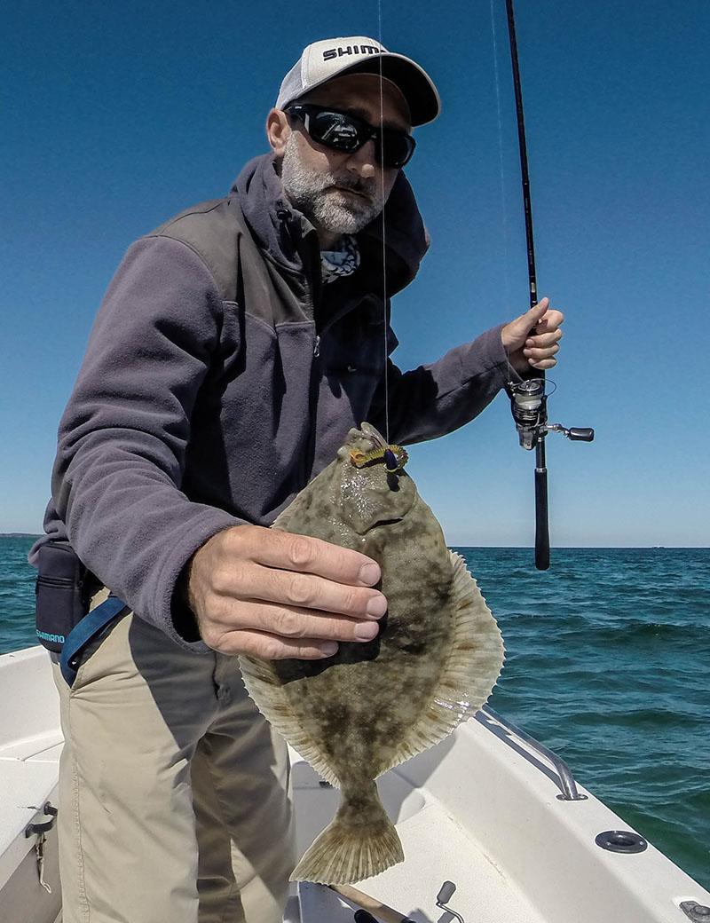 Plattfisch auf Texas Rig gefangen