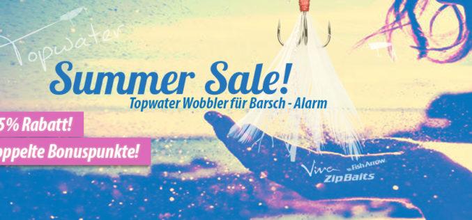 Summer Sale: Topwater Baits für Barsch