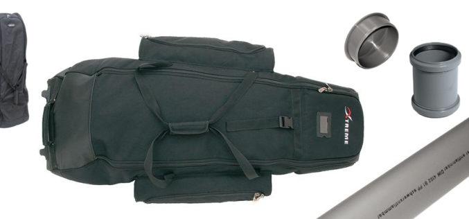 Koffer-Rutenrohr-Hybrid für Flug-Angler