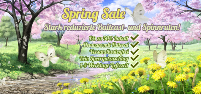 Nippon-Tackle Spring Sale 2016!