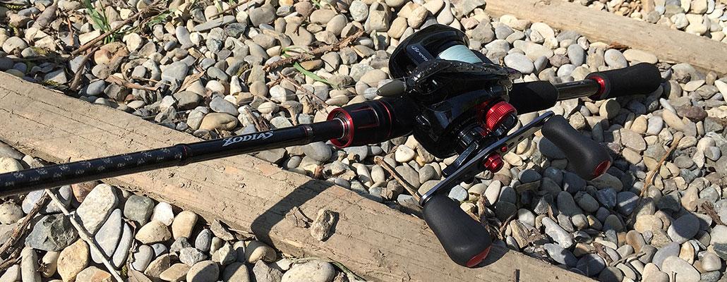 Shimano Zodias 168BFS 2,03m und Shimano Brenious bespult mit Sunline Cast Away 10LB - mehr Wurfweite mit der Baitcaster