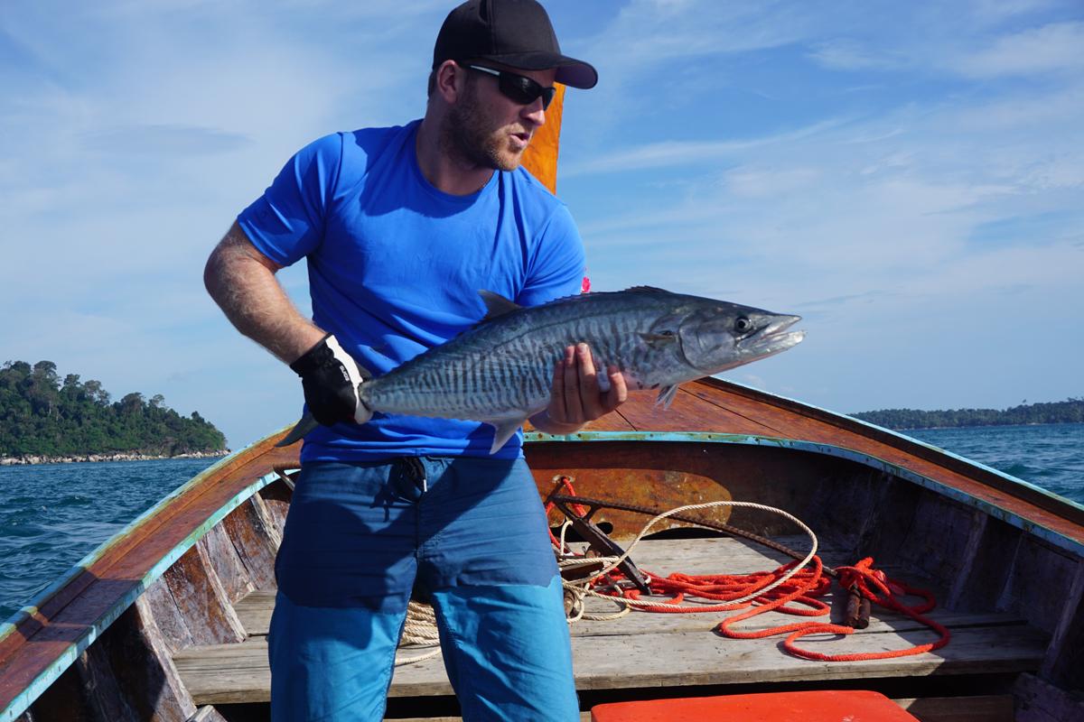 Ich hätte nie geglaubt, dass mich ein Fisch dieser Größe dermaßen außer Puste bringt.