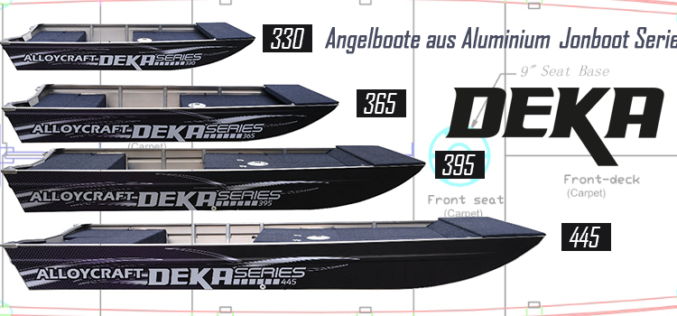 Brandneue DEKA Angelboote aus Aluminium – powered by Alloycraft!