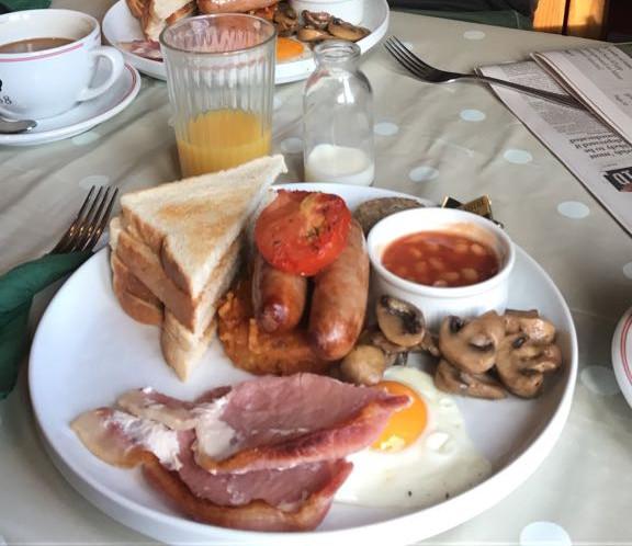 Wolfsbarsch Frühstück