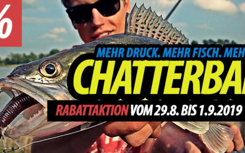Chatterbait-Aktion: Mehr Druck. Mehr Fisch. Mehr Spaß!