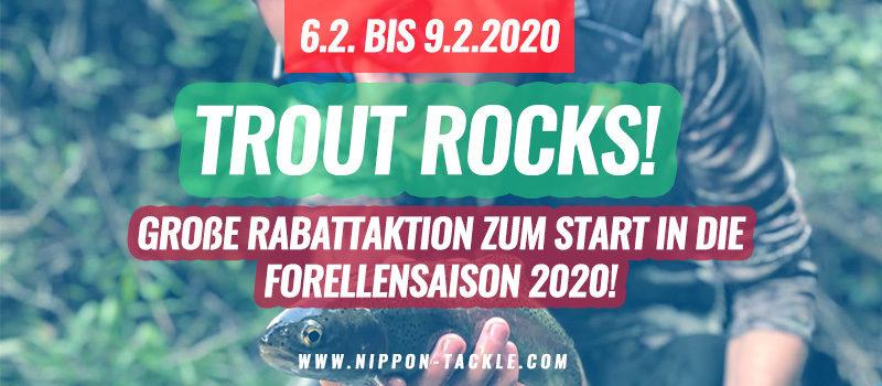 TROUT ROCKS! Große Rabattaktion zur Forellensaison 2020