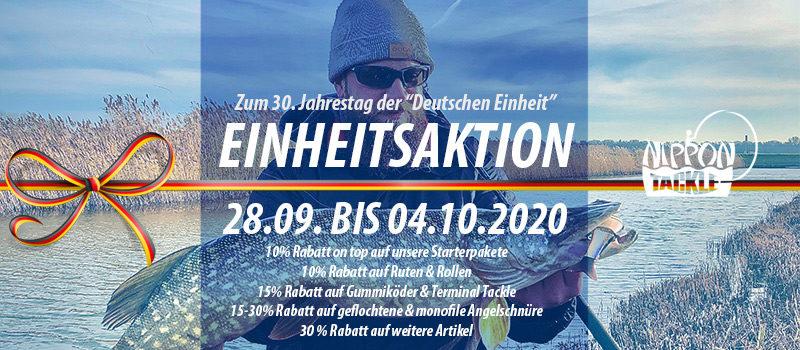 """""""Einheitsaktion"""" vom 28.09. bis 04.10.2020 im Nippon-Tackle Shop"""