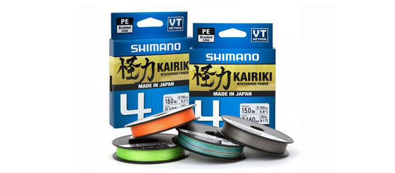 Kairiki 4: 4fach-Geflochtene Japan-Schnur von Shimano