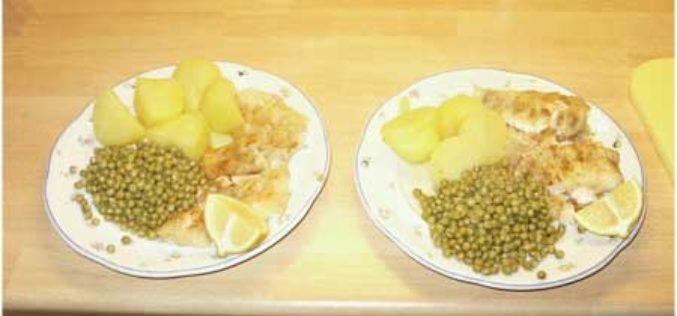 Gebratener Fisch in Zitronenpanade