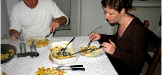 Überbackener Gemüse-Dorsch an Brat-Gnocci