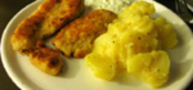 Zanderschnitzel Wiener Art an schwäbischem Kartoffelsalat
