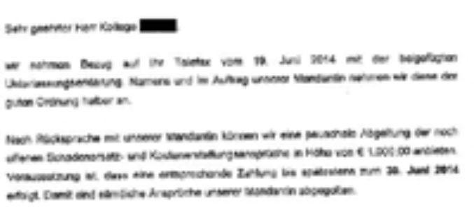 Teuer und überflüssig: BA der Urheberechtsverletzung überführt!